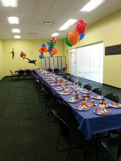 Birthday party room at The Athletico Center