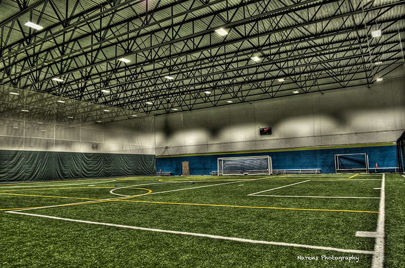 The Athletico Center's indoor artificial turf field